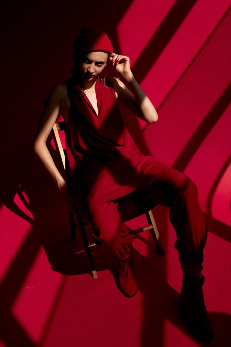 Dress, pants, shoes: Zero + Maria Cornejo. Hat Stylist own