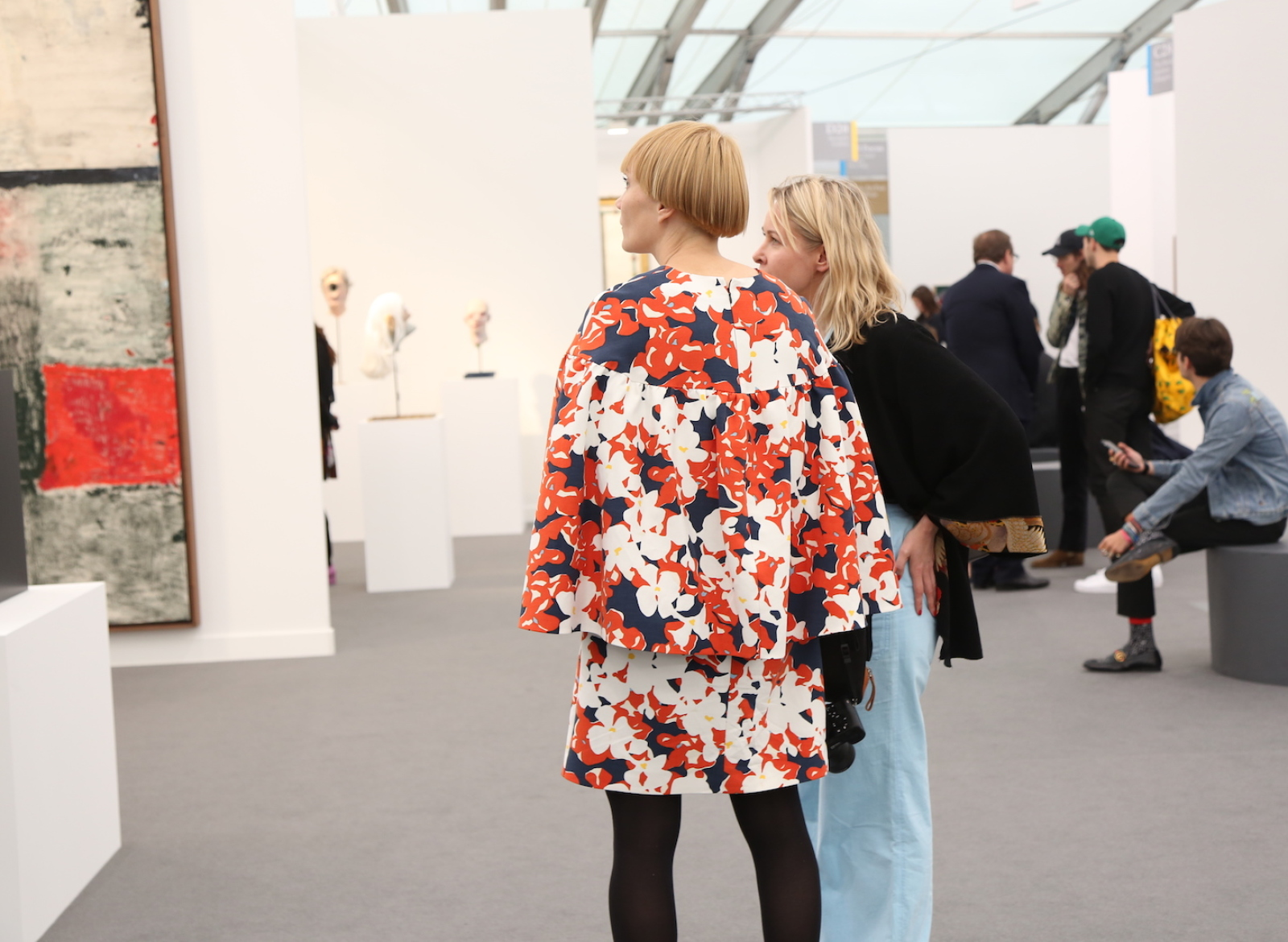 Olimpia Dior And Lily Baldwin At Frieze